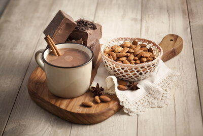 Almonds Hot Chocolate - content card