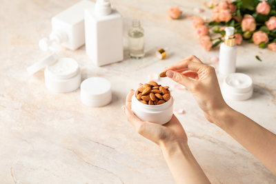 Skincare with almonds